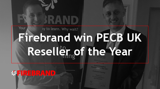 Firebrand win PECB Reseller of the year award