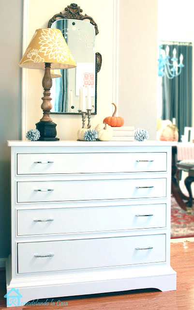 how to paint and update the legs on a dresser