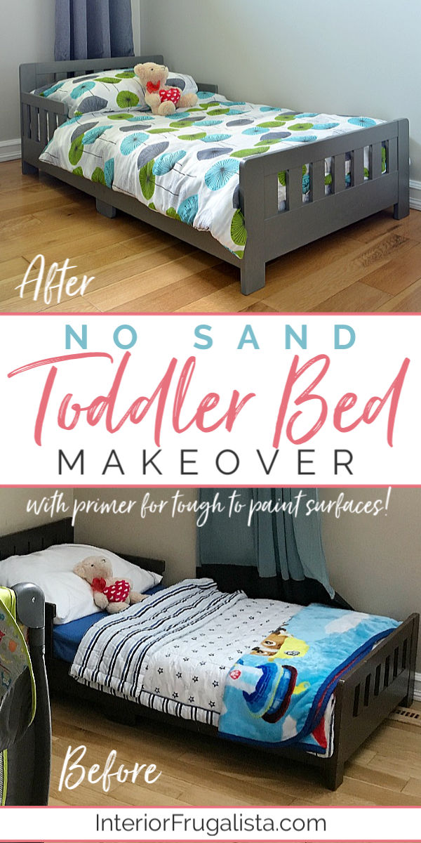 No Sand Toddler Bed Makeover Before and After