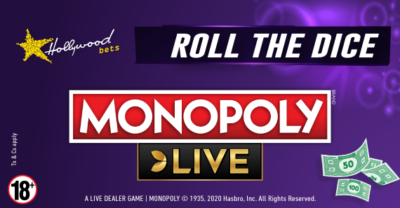 How to play MONOPOLY Live with Hollywoodbets