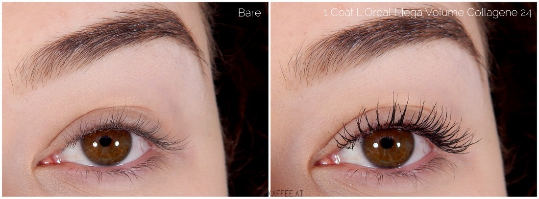 L'Oréal Mega Volume Collagene 24H Mascara applied
