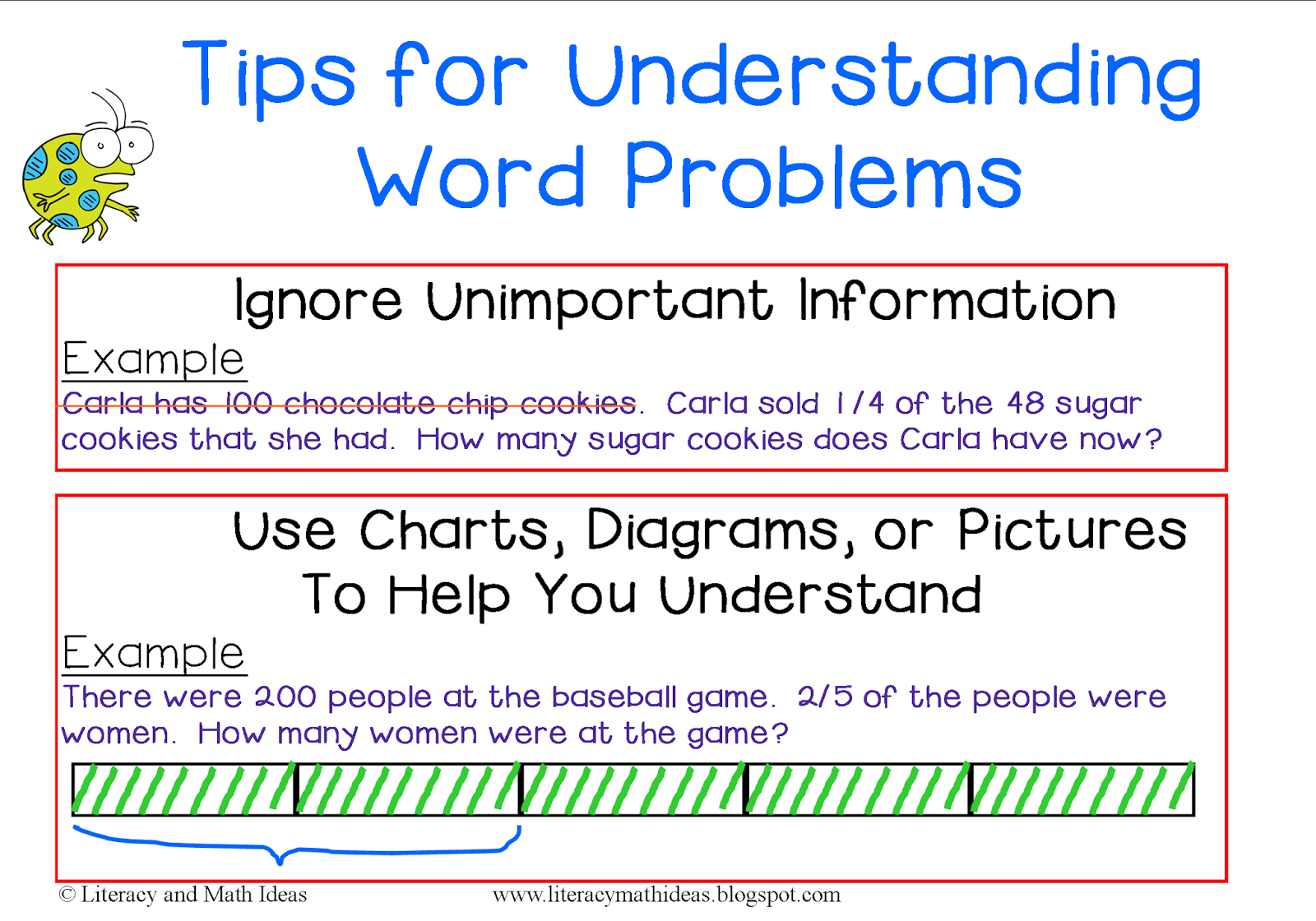 Literacy Math Ideas Tips For Understanding Word Problems