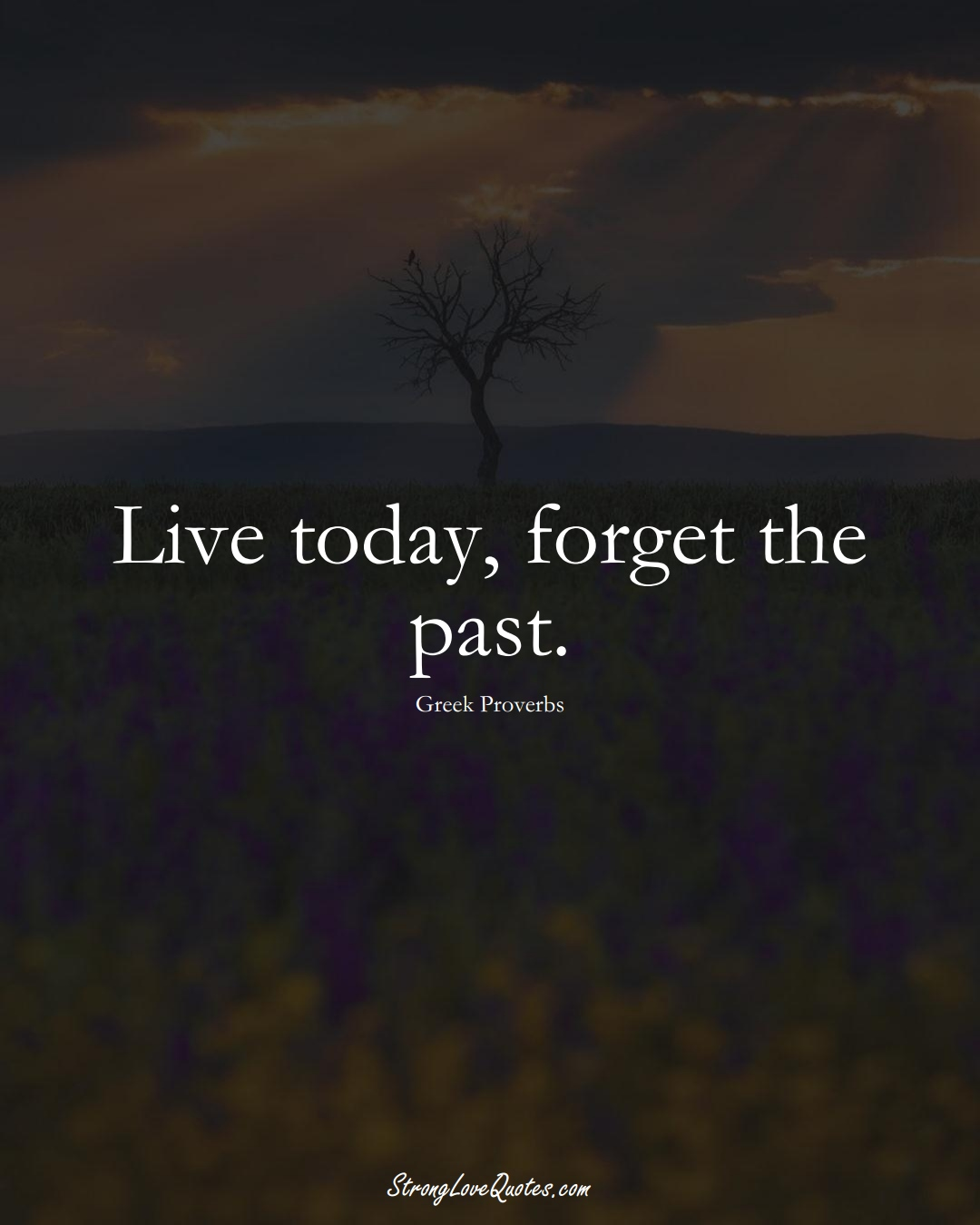 Live today, forget the past. (Greek Sayings);  #EuropeanSayings