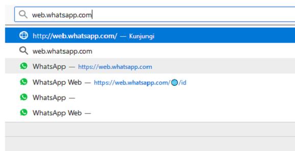Langkah 3 Buka Situs WhatsApp Web Untuk Dapat Barcode