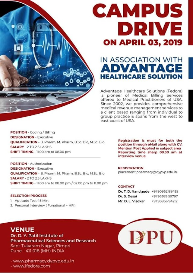 Campus Drive On 3  April 2019 Apply Now Bpharma Mpharma Bsc Msc Candidates