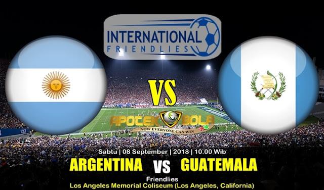 Prediksi Argentina Vs Guatemala 8 September 2018