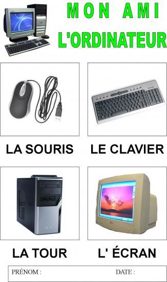 Komputer - słownictwo 1 - Francuski przy kawie