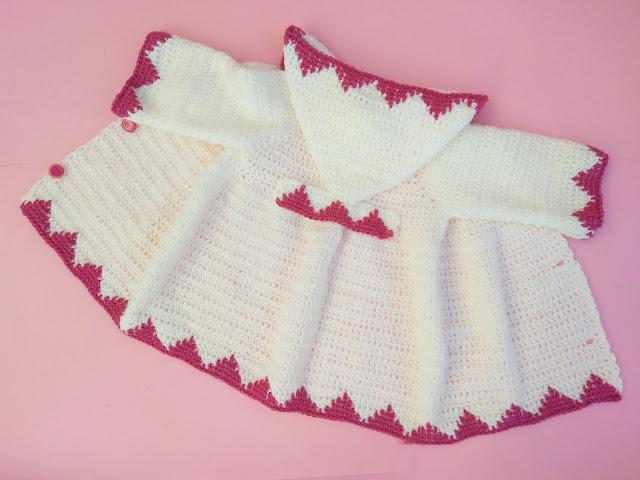 3 - Crochet Imagen Abrigo con capucha crochet parte 2 y ganchillo Majovel Crochet bareta puntada punto sencillo facil DIY canesu manga