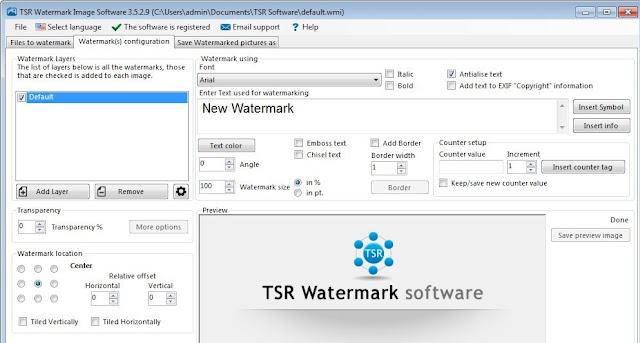 Portable TSR Watermark Image Software Free