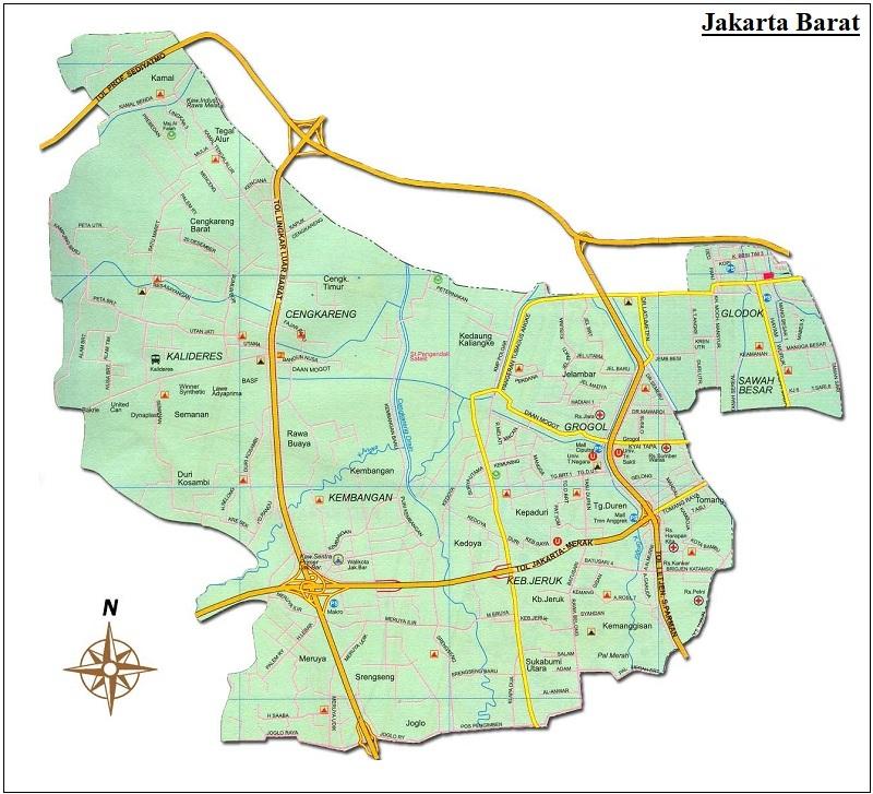 Peta Jakarta HD Lengkap: Pusat, Barat, Timur, Utara dan ...