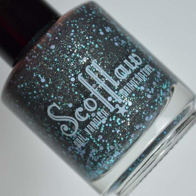grey nail polish bottle