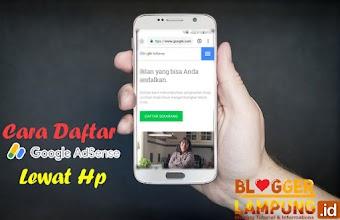 Cara Daftar Google Adsense Untuk Blog Lewat Hp Android