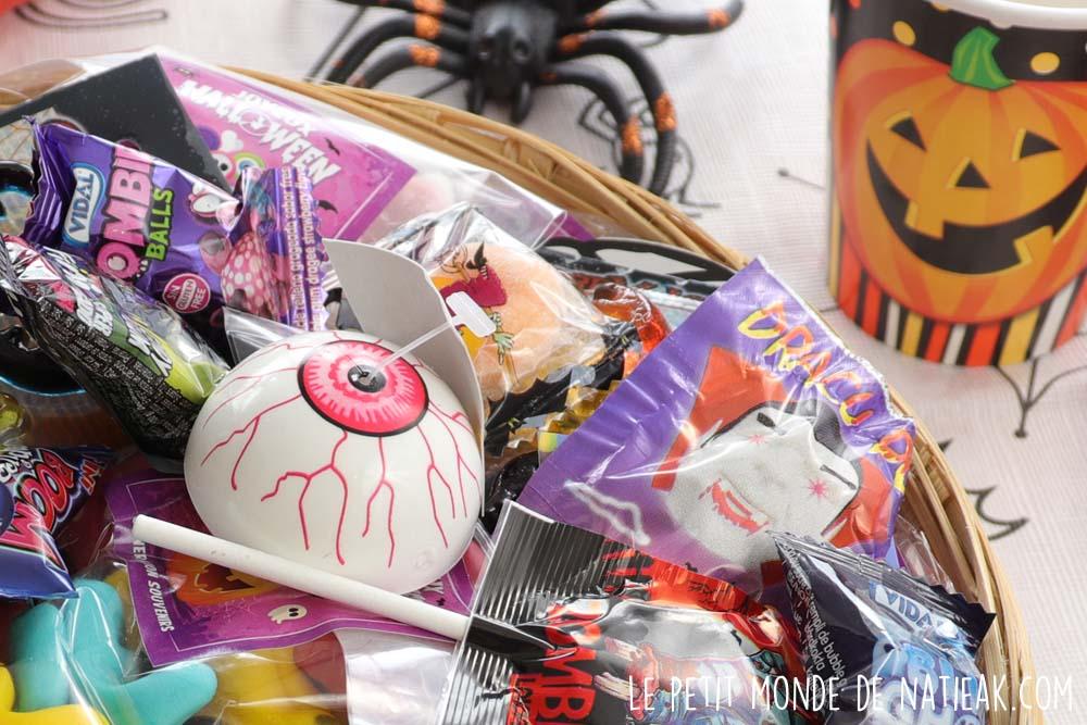 puce sauteuse oeil Halloween