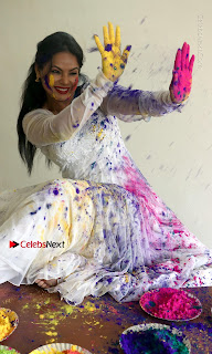Bollywood Actress and Producer Neetu Chandra Special Po Shoot Gallery in a Dry Holi Celetion  0009.JPG