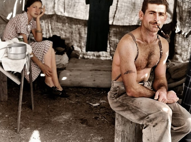Unemployed Lumber Worker and His Wife, circa 1939