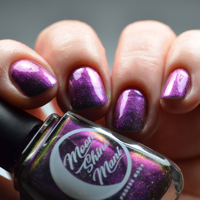 purple multichrome nail polish swatch