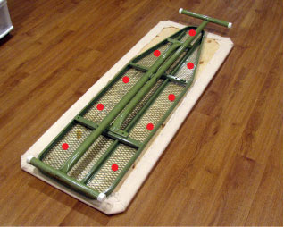 DIY quilters ironing board tutorial - detail 05