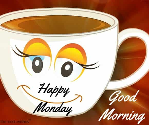 good morning happy monday hd images with tea