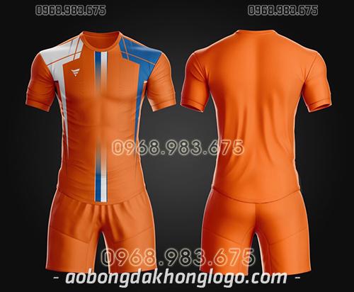 Áo bóng đá ko logo TA Thd màu cam