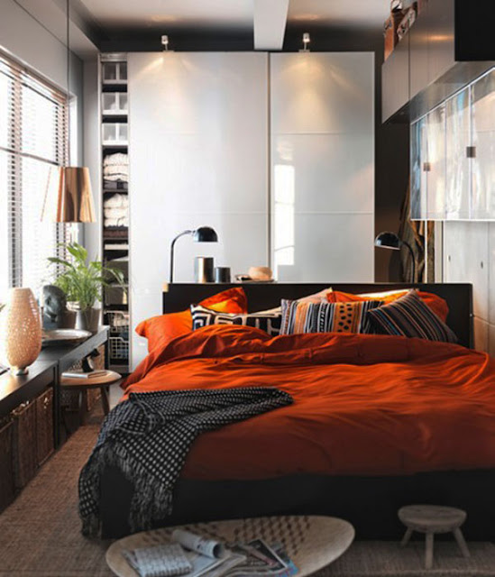 Using Small Bed to Give Spacious Impression Bedroom with Amazing Interior