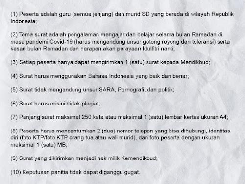 lomba menulis surat guru dan siswa