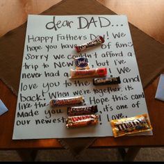 father's day gifts from daughter homemade
