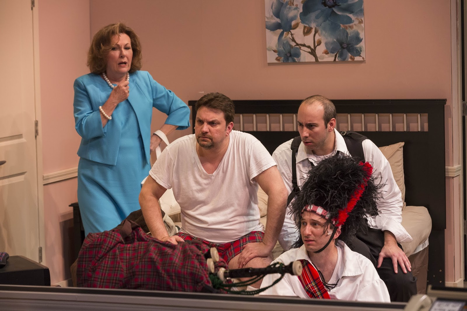 Jay harvey upstage actors theatre indiana romps through a for Farcical characters