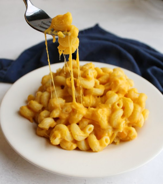 forkful of cheese acorn squash mac and cheese