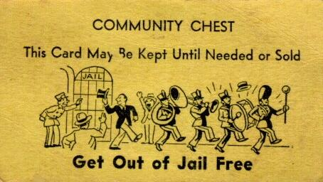 America in prophecy june 2011 for Get out of jail free card template