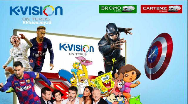 Harga Paket dan Channel K-Vision Cartenz Terbaru