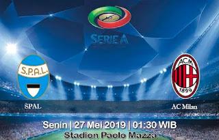 Prediksi SPAL Vs AC Milan 27 Mei 2019