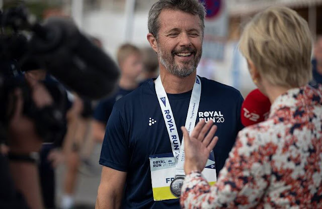 Crown Prince Frederik took part in the Royal Run 2021
