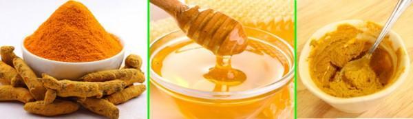 Mặt nạ nghệ tươi, sữa chua và mật ong