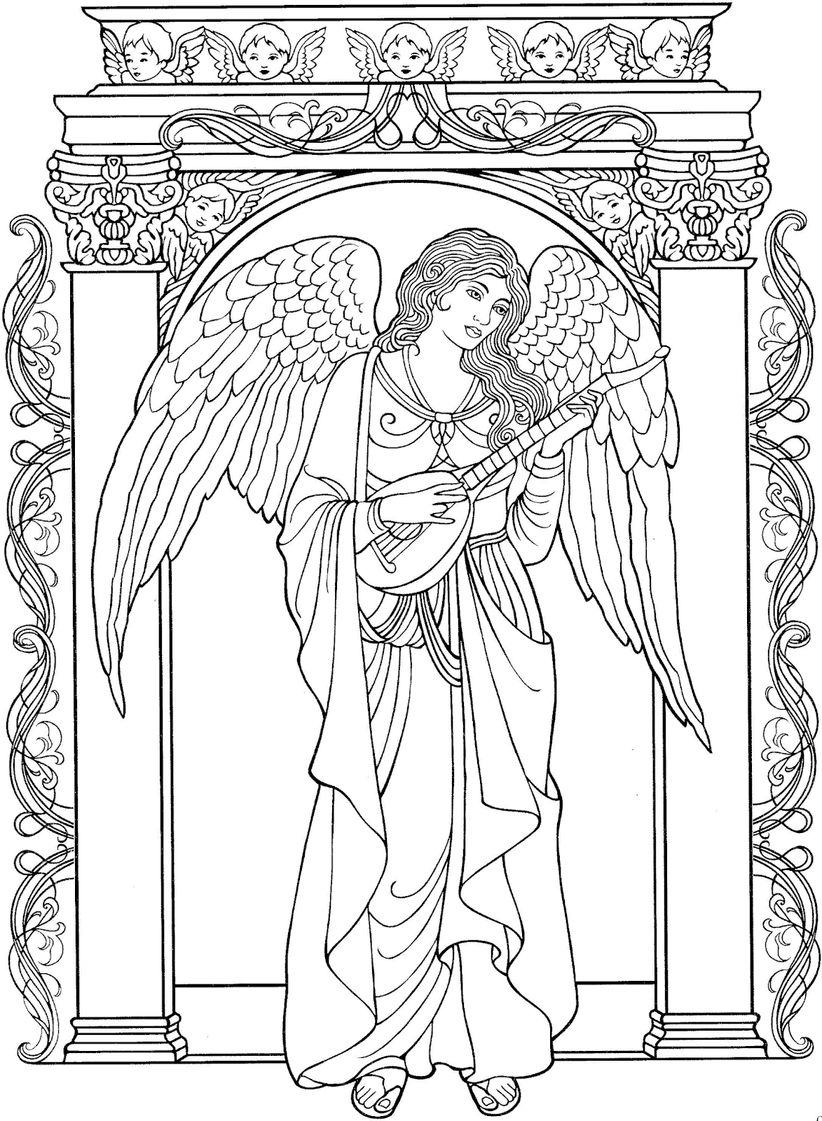 Engel Malen Schritt Für Schritt