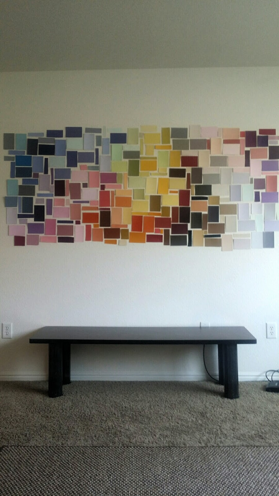 Paint Sample Wall I Made In My Living Room Yesterday