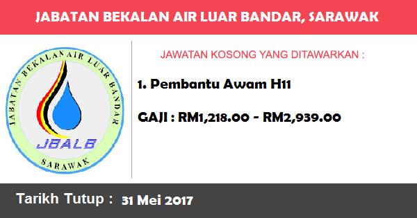 Jawatan Kosong di Jabatan Bekalan Air Luar Bandar, Sarawak