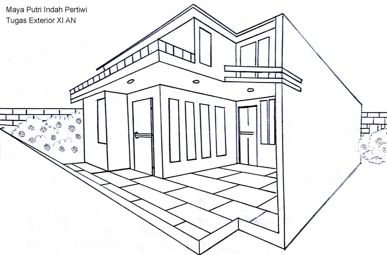 Sketsa Desain Eksterior Rumah