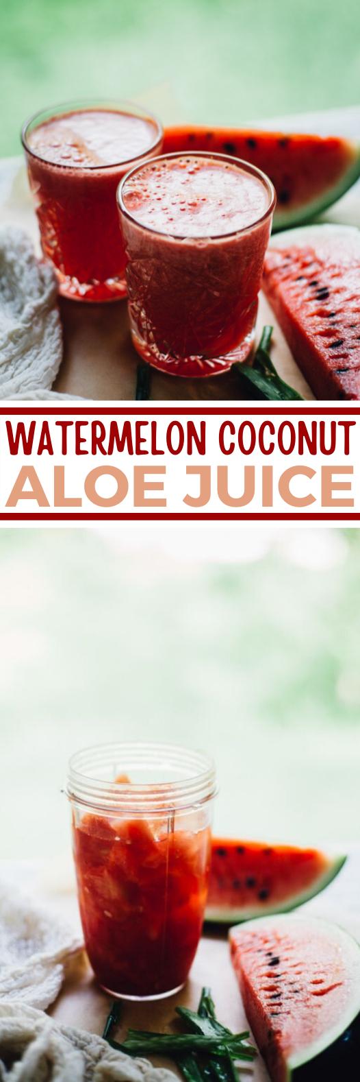 Watermelon Coconut Aloe Juice #healthy #drinks #juice #refreshing #summer