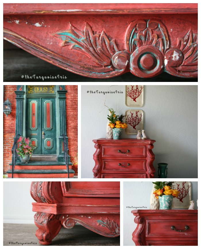 I Used Tuscan Red, Coral Crush, Patina Green And Antique White To Achieve  This Layered Bohemian Look.