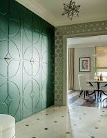 Wardrobe design idea with sage green color