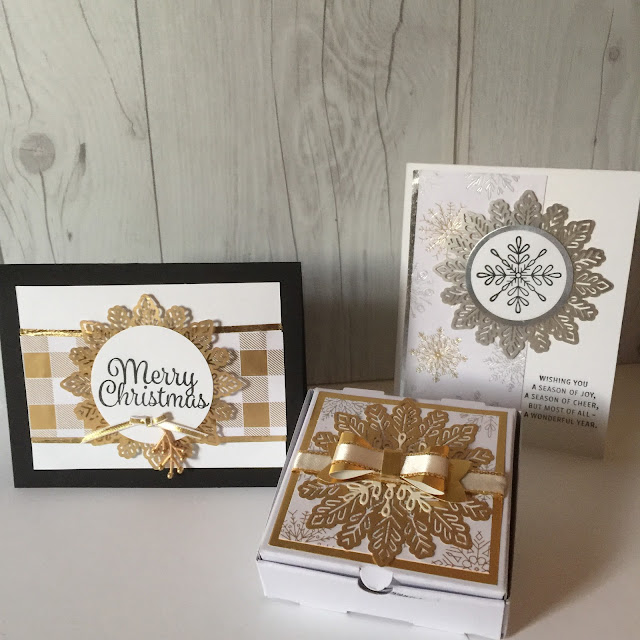 Products used to create these projects are from the Stampin' Up! Holiday Catalog