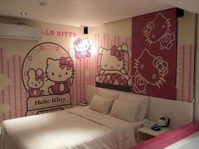 Desain Kamar Hello Kitty