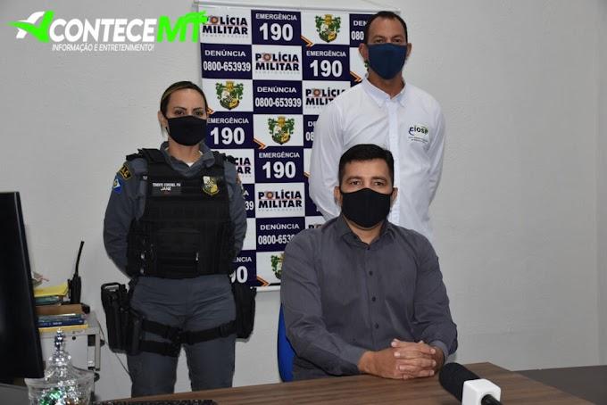 Comitiva da Secretaria de Segurança Pública realizou visita técnica nos municípios de Rosário Oeste, Nobres e Jangada