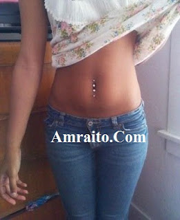 Double belly button Navel piercing