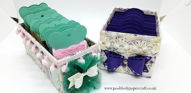 Positivelypapercraft ribbon storage box