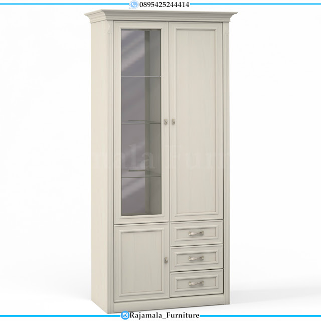 Lemari Hias Minimalis 2 Pintu Putih Duco Classic Luxury RM-0322