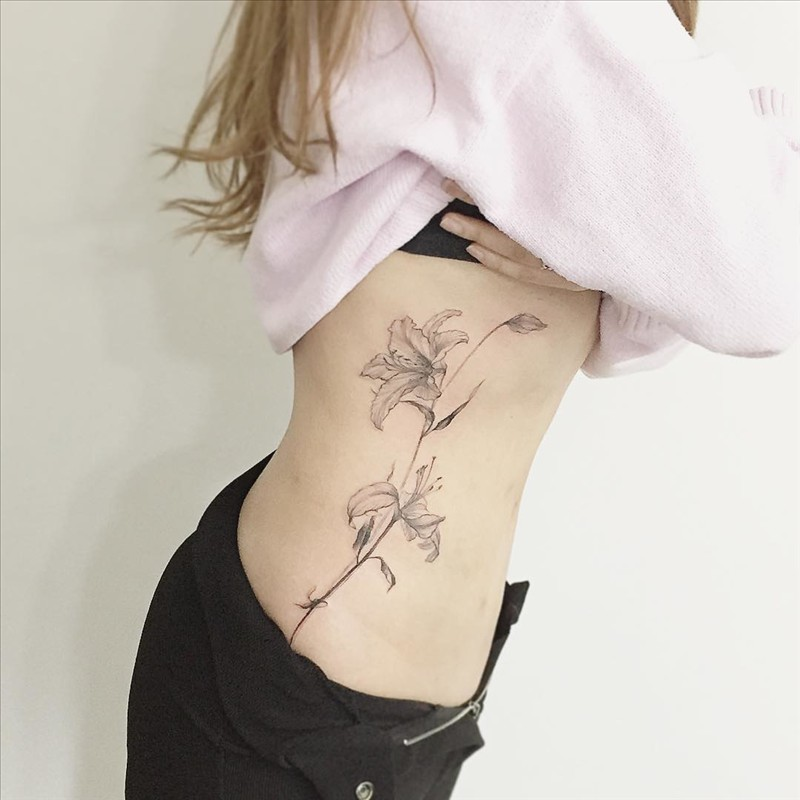 Flower tattoo from Tattooist 1