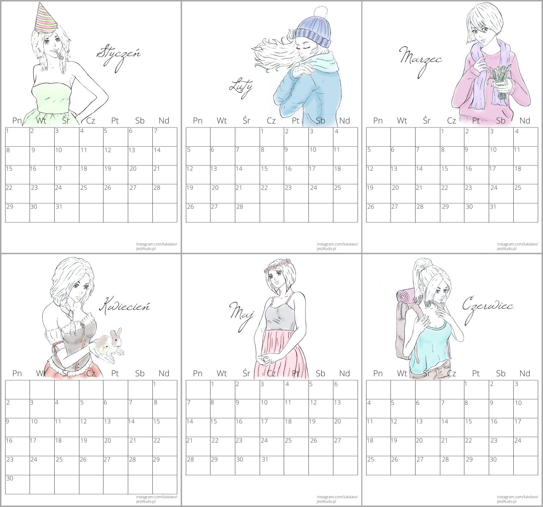 darmowy kalendarz do druku na rok 2018
