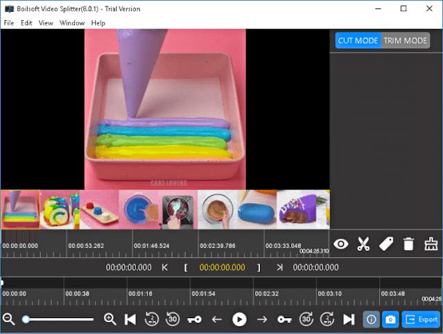 تقسيم الفيديوهات الى اجزاء متعددة