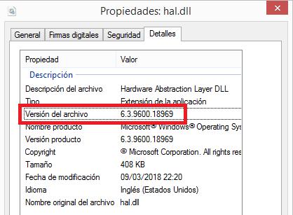Windows: Versión instalada si no arranca